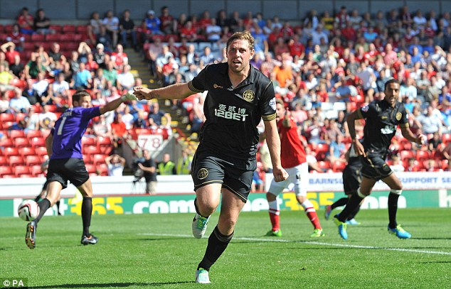 Step up: The 32-year-old had been playing in the Championship with Wigan this season