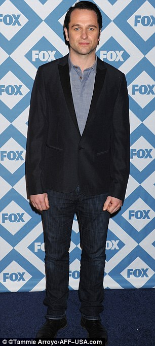 Promotional duties: Matthew Rhys wore a blazer and jeans