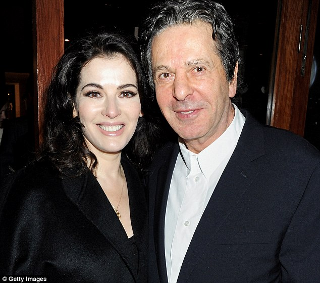 Second husband: Miss Lawson married Charles Saatchi in May 2003. Team Nigella have denied claims from Mr Saatchi that they started dating around six months before her first husband John Diamond died