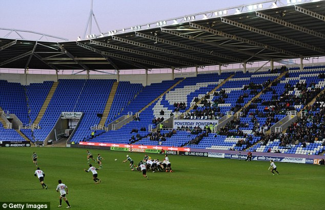 The only club: London Irish, here at the Madejski Stadium, are in talks for their training facilities to be used during the Rugby World Cup in 2015