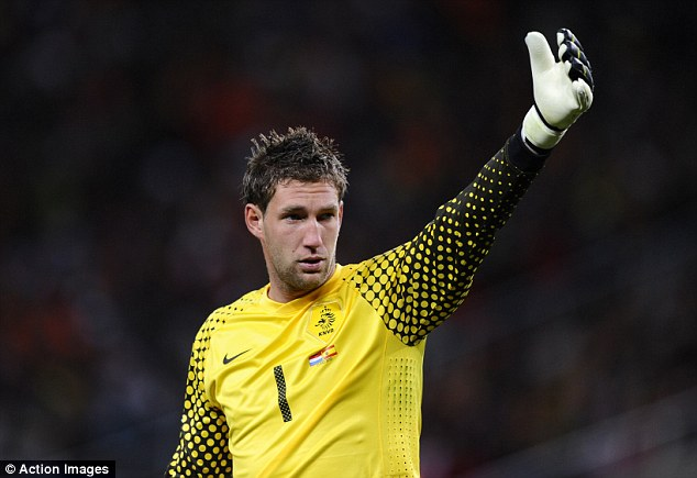 Ahead in the pecking order:  Maarten Stekelenburg was No 1 for the 2010 World Cup with Vorm on the bench