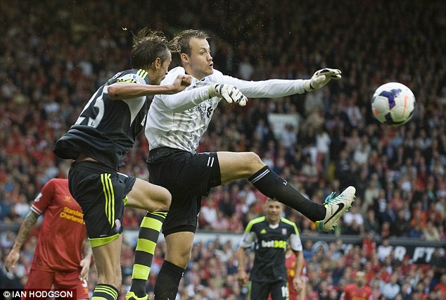 Highly rated: Simon Mignolet has adapted well after his move to Liverpool in the summer