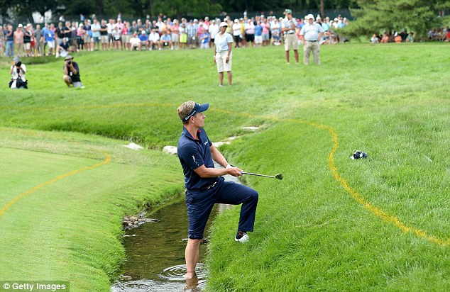 Implosion: Donald's poor final round during the US Open at Merion summed up his poor year
