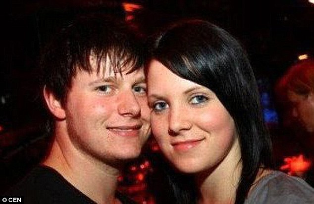 Tragedy: Christina, pictured with her partner, Daniel, had for years believed that her mother was alive - but a caller on Germany's version of Crimewatch helped police establish that she'd been murdered