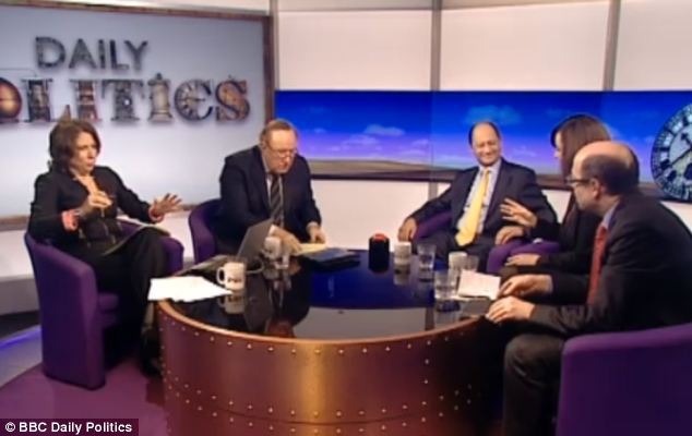 The music interrupted a debate on BBC2's Daily Politics  bankers bonuses, minutes after the end of Prime Minister's Questions
