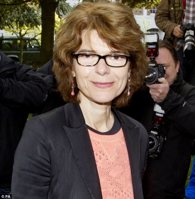 Friend: Economist Vicky Pryce, who went to prison for taking speeding points for former husband Chris Huhne, is a friend of the lawyer - who was arrested in October 2012
