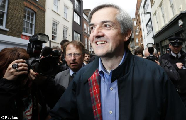 Jailed: Former British cabinet minister Chris Huhne was jailed in March for falsely telling police Pryce had been driving when his car was caught by a speed camera