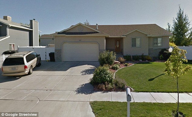 Suburban suicide: The shooting happened around 7pm at this address in Syracuse, Utah