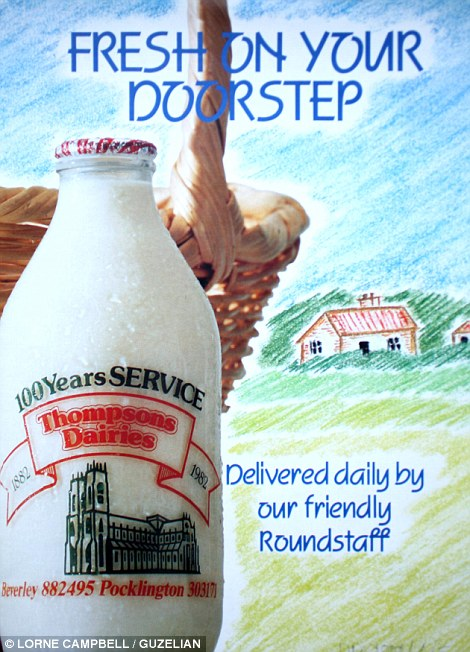 Delivering milk for a century: This flier from 1982 celebrated 100 years anniversary of the Thompson Dairy's service to the east Riding towns of Beverley, Cottingham, Walkington and Newbald