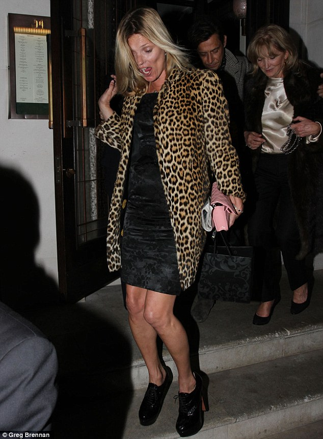 Where's the party? Oh yes, I'm already at it! Kate totters out of her bash