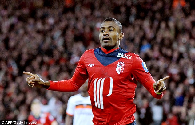 On the move: Spurs are set for talks over a £2.6m deal for Lille's Salomon Kalou