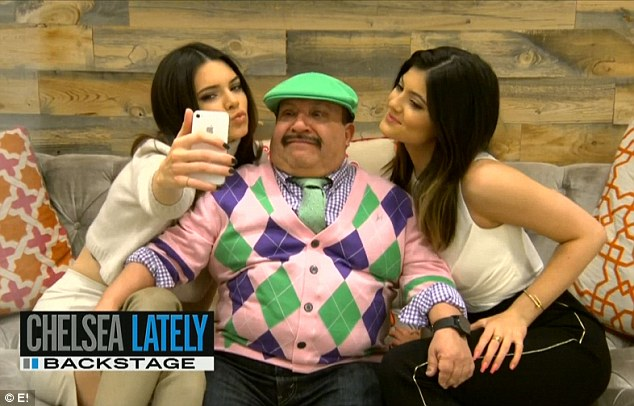 Duck faces! Backstage, Kendall and Kylie bonded with Chelsea's diminutive sidekick Chuy Bravo