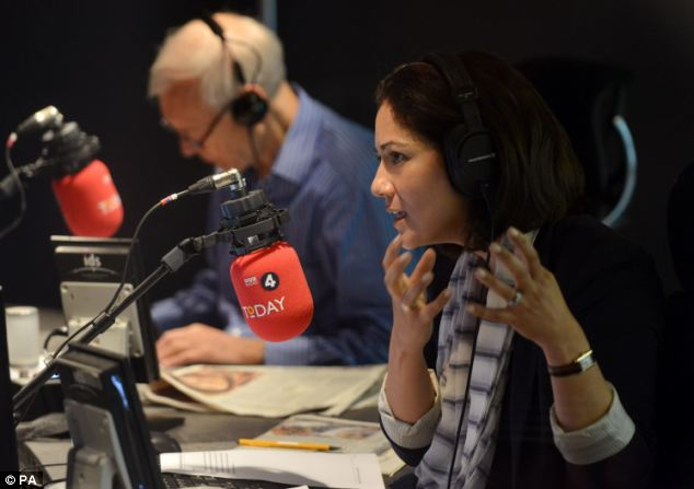 Mishal Husain (right) joined Today last year, bringing the number of female presenters on the programme to two