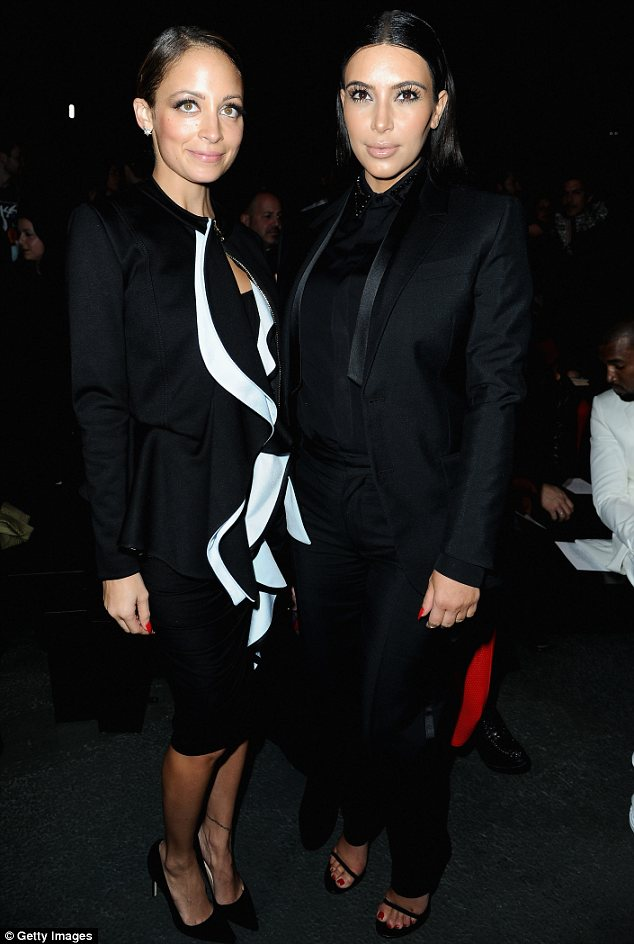 Fast forward: Nowadays Nicole and Kim, pictured in Paris last March, are both mothers and have partners