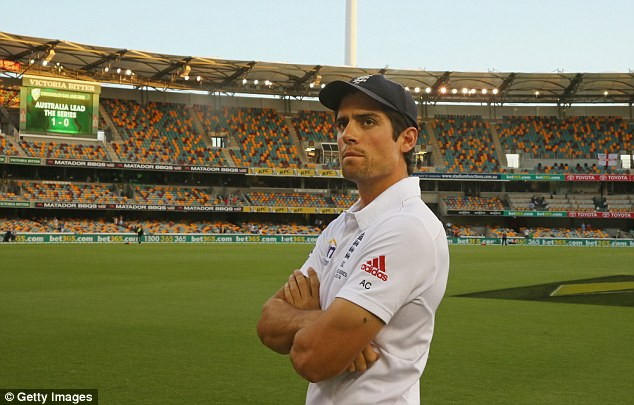 Unhappy memories: England captain Alastair Cook reflects after the first Test defeat at the Gabba in November