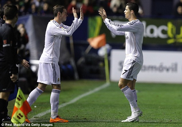 All white on the night: Wilson has been likened to Bale but styles his game on Cristiano Ronaldo