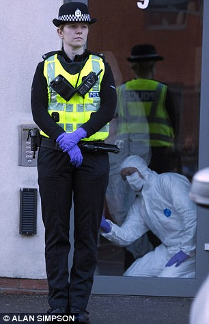 Forensic experts at Ferry Gait Crescent