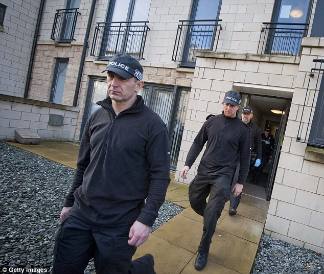 Areas of interest: Police exit a flat in Waterfront Gait in the Granton area while investigating missing child Mikaeel, where a man was held on an unrelated offence
