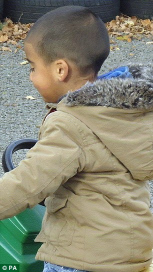 Missing three-year-old Mikaeel Kular, wearing the brown jacket believed to have also disappeared