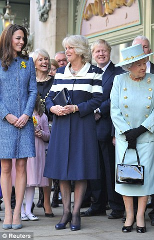 The three royals visited the store to look at the Diamond Jubilee product range