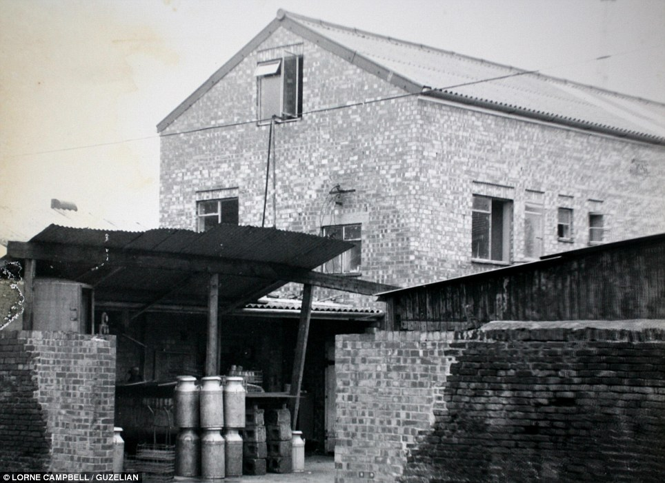 Housing the milk: The Keldgate dairy is pictured in the 1970s. Raymond Thompson's business expanded to include Pocklington and villages like Everingham, when they bought Jacksons Dairy