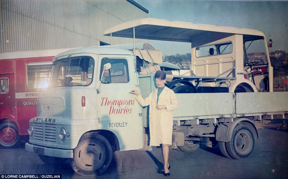 Ready for business: Emma Carr (pictured) was an employee of Thompson's Dairy in the 1960s.  They delivered to Riding towns including Beverley, Cottingham, Walkington and Newbald