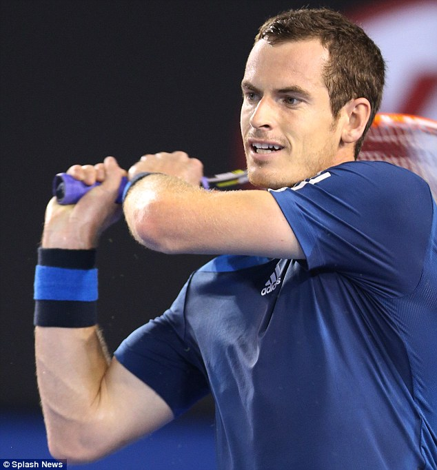 Andy Murray during his second round win against Vincent Millot on day 4 of the Oz Open