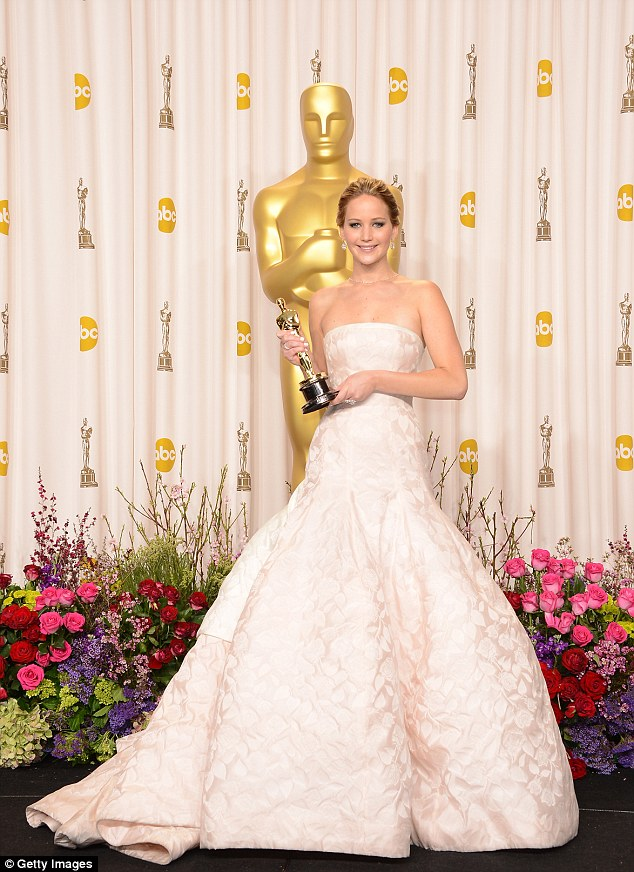 Crowning achievement: Jennifer won Best Actress for Silver Linings Playbook last year