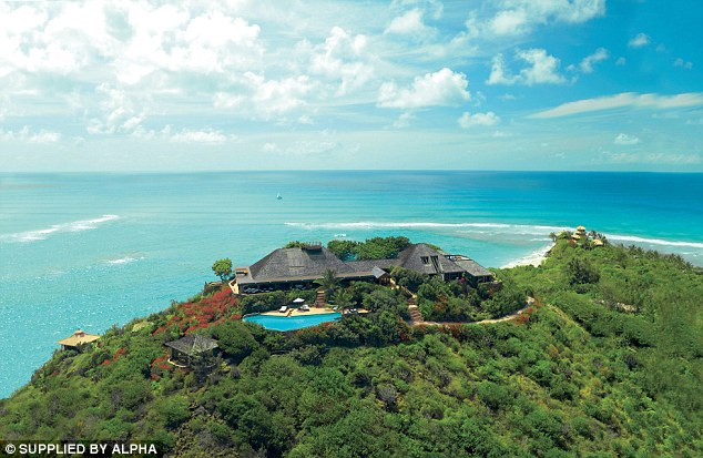 Luxury: Necker Island normally costs £280,000 a week to hire