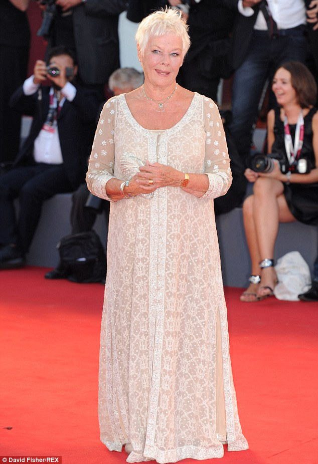 Oldie but goodie: Judi Dench, 79, has nabbed her seventh Oscar nomination for her role in Philomena; she and the film were feted during the Venice International Film Festival in August
