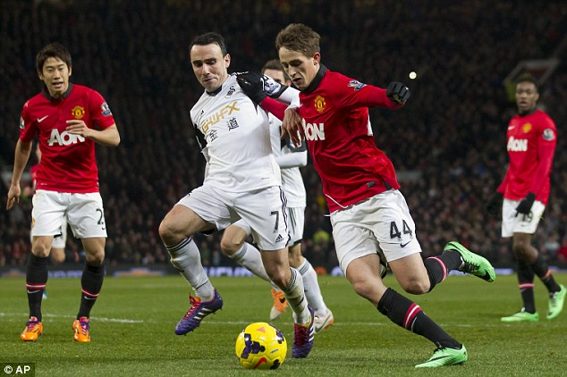 Starlet: Moyes must also take credit for the emergence of Adnan Januzaj (right), here going past Leon Britton