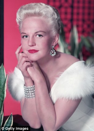 Legendary American jazz singer Peggy Lee