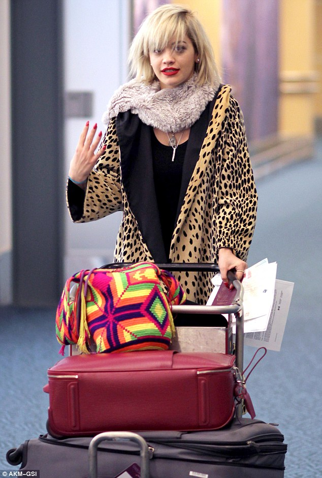 Making her arrival: Rita arrived at Vancouver International Airport on Tuesday