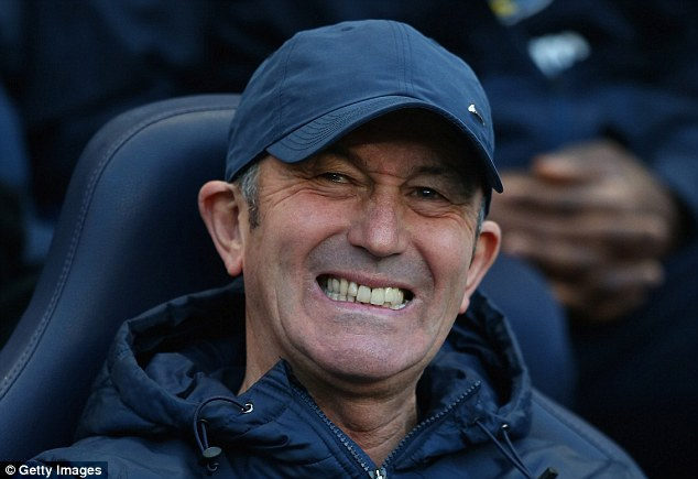 Grin and bear it: Palace boss Tony Pulis will face former club Stoke for the first time since leaving