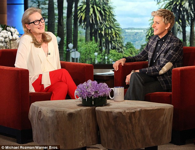 Modest to a fault: Meryl Streep told Ellen DeGeneres that she did not expect to receive an Oscar nomination