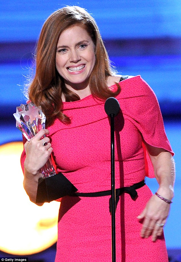 On a roll: The mom-of-one was thrilled to take home her award after also emerging victorious from last weekend's Golden Globes and scoring a coveted Oscar nomination
