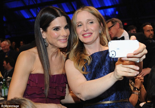There's always time for a selfie: The brunette posed for a cute keepsake pic with fellow actress Julie Delpy as the ceremony got underway