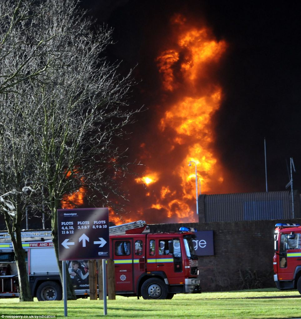 More than a dozen fire crews were sent to tackle the fire, which reached 6,000ft and drifted more than 25 miles