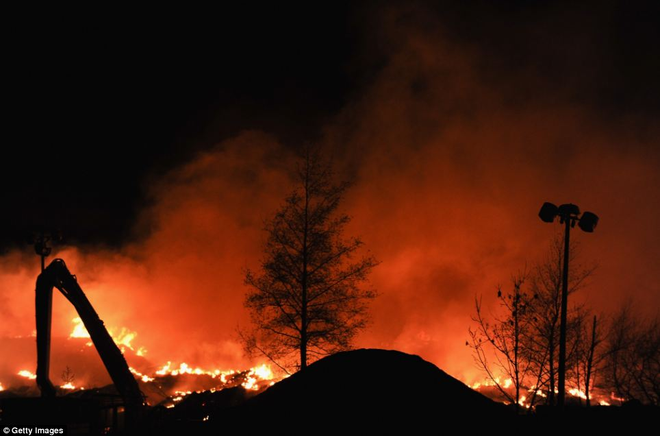 A Public Health England spokesman said no one had so far reported suffering any 'ill effects' from the fire