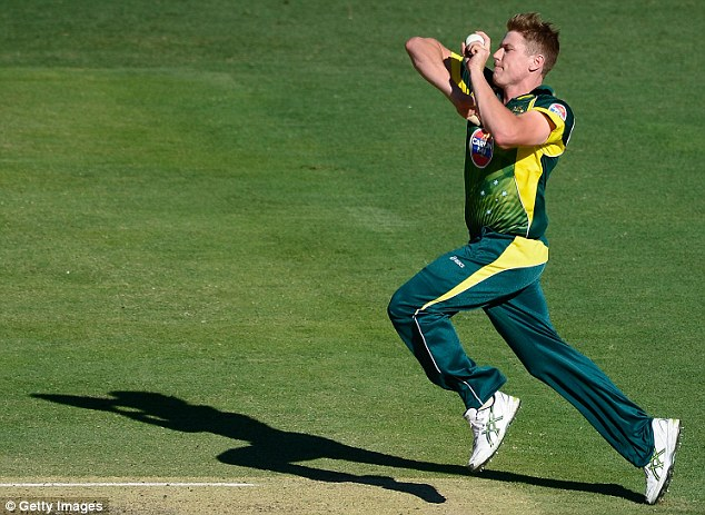 Trouble: James Faulkner came in for some serious tap from Morgan as he accelerated quickly