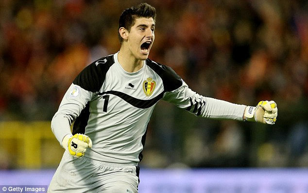 Safe keeping: Thibaut Courtois is a massive hit at Atletico Madrid on his extended loan spell