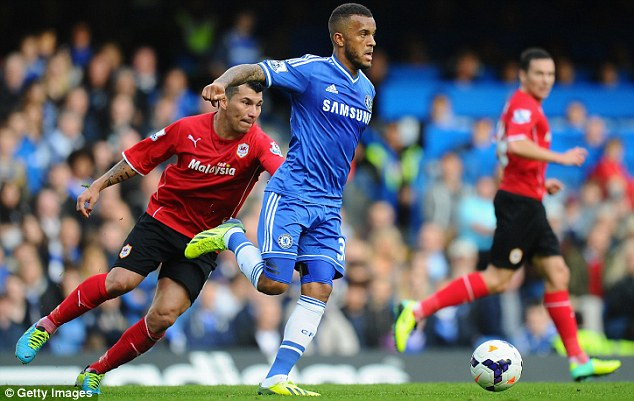 Rare appearance: Bertrand has found his opportunities at Chelsea limited this season
