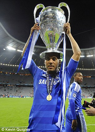 King of Europe: Bertrand poses with Champions League trophy