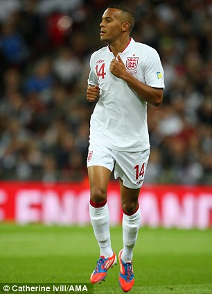 National service: Bertrand on his England debut