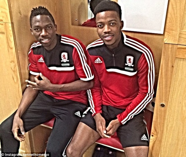 Boro boys: Nathaniel Chalobah (right) and Kenneth Omeruo are both on loan at Middlesbrough