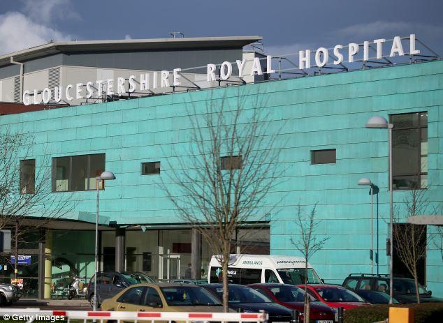 Hospital: Mia Grace was born on January 17 at the Gloucestershire Royal Hospital