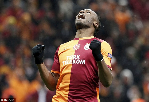 Deadly scorer: Didier Drogba says he will do all he can to help his Galatasaray team beat former club Chelsea