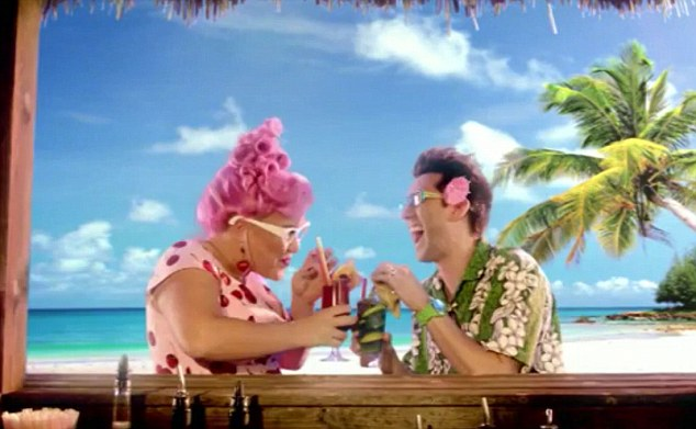 Having a laugh: The actors in the Hotels4u advert seem in good spirits but viewers are not so amused. Helen Wolfe wrote: 'Most annoying advert in the world, even worse than Go Compare!'