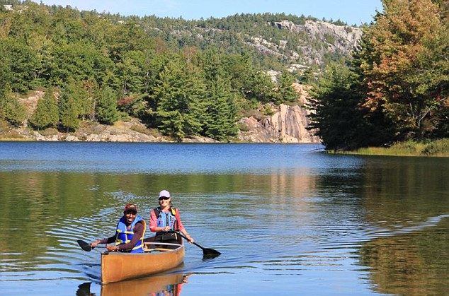 Calm waters: With 250,000 lakes in Ontario, there are plenty of water sports on offer