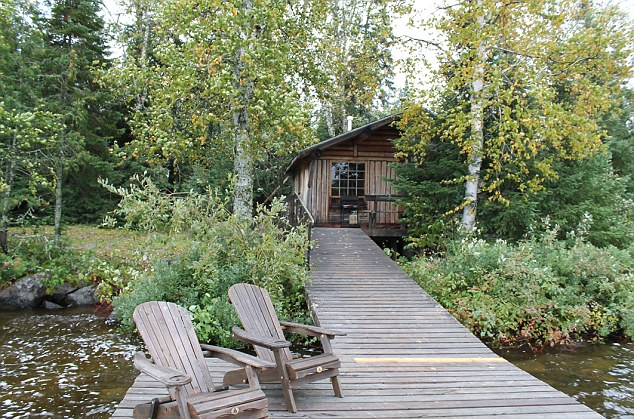 Home from home: Errington's Wilderness Island Resort has little cabins dotted along the lake front